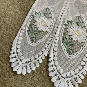 Vintage Accents - 🖤 VINTAGE DOILY CURTAIN TOPPERS